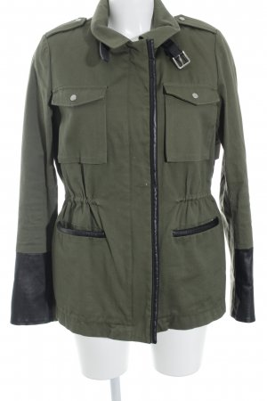 Maje Short Jacket olive green street-fashion look