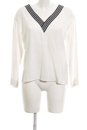 Maje Langarm-Bluse weiß-schwarz Casual-Look