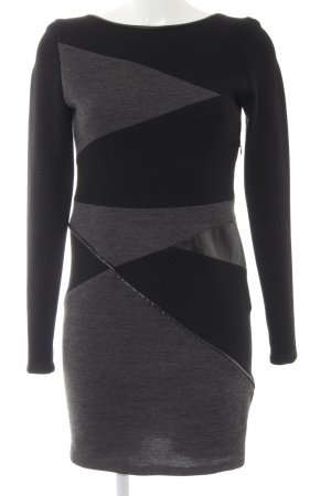 Maje Langarmkleid schwarz-grau Colourblocking Business-Look