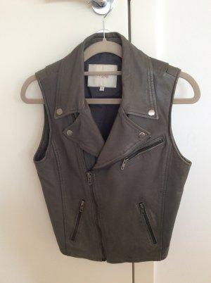 Maje Leather Vest grey