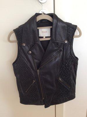 Maje Leather Vest black
