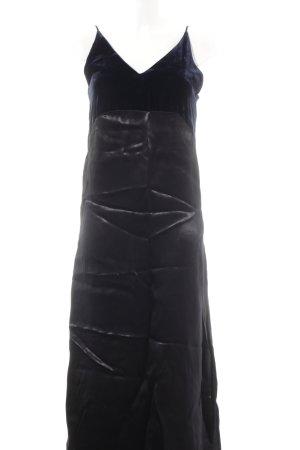 Maje Maxikleid schwarz-dunkelblau Elegant