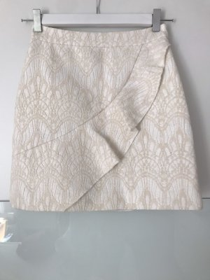 Maje Mini Rock in weiß mit Muster