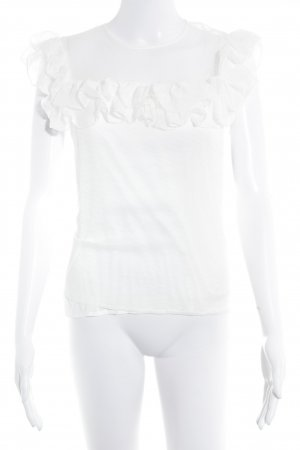 Maje Mesh Shirt natural white spot pattern elegant