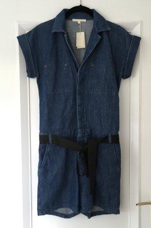 MAJE- NEU Kurzoverall, dunkelblau, Jeans, Gr.36