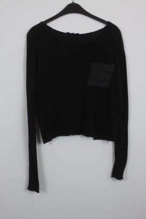 Maje Camisa recortada negro Algodón