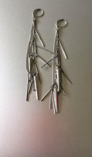Maje Ohrringe schwer Metall / Silber