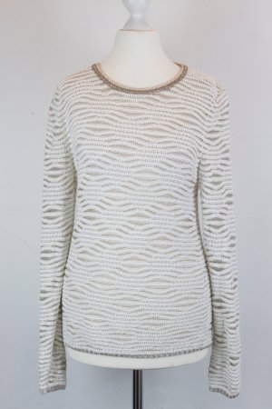 MAJE Pullover Strickpullover Gr. XS gold/beige pattern (E/MF/SC)