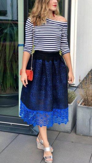 Maje Flared Skirt black-blue