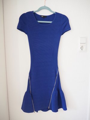 Maje Vestido color plata-azul