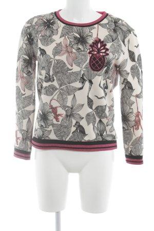Maje Crewneck Sweater floral pattern casual look