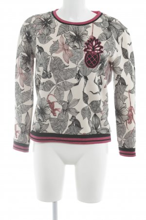 Maje Rundhalspullover florales Muster Casual-Look