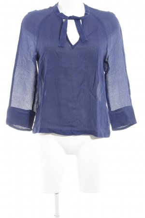 Maje Tie-neck Blouse blue elegant