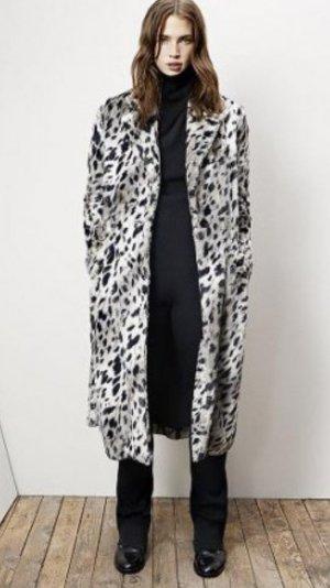 Maje Schnee Leopard Mantel Blogger Item