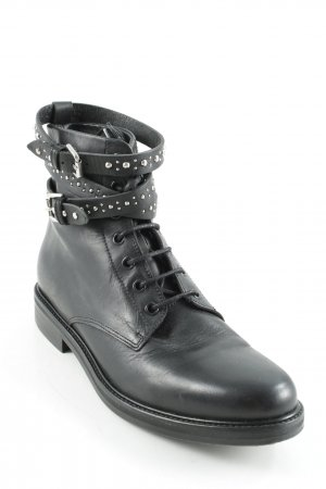 Maje Lace-up Booties black casual look