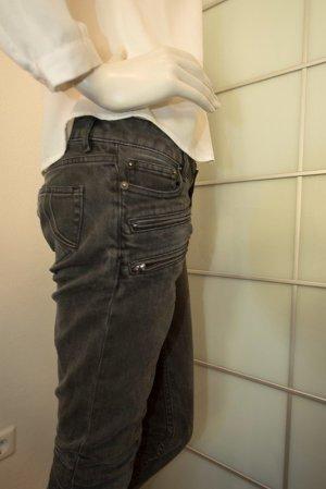 Maje Jeans vita bassa nero