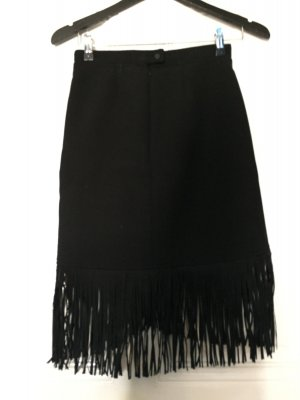 Maje Fringed Skirt black