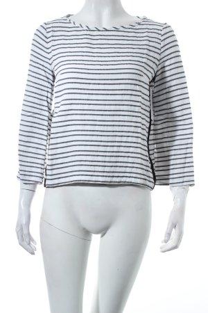 Maje Shirt weiß-schwarz Streifenmuster Casual-Look