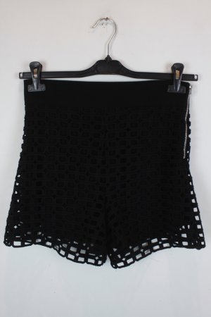 Maje High-Waist-Shorts black polyester