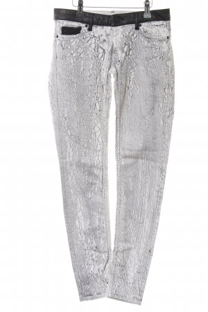 Maje Skinny Jeans abstraktes Muster Casual-Look