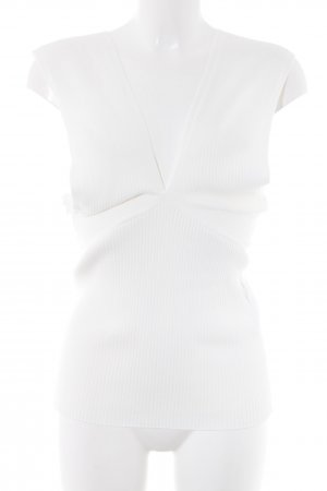 Maje Knitted Top natural white casual look