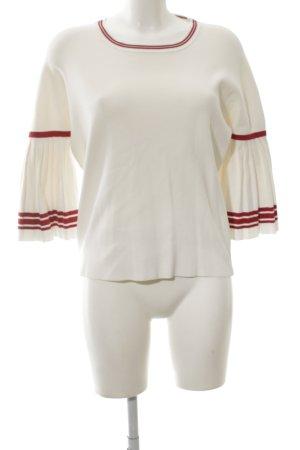 Maje Sweatshirt weiß-rot Casual-Look
