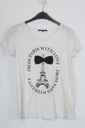 Maje T-Shirt Gr. 2 weiß/schwarz (18/5/363)