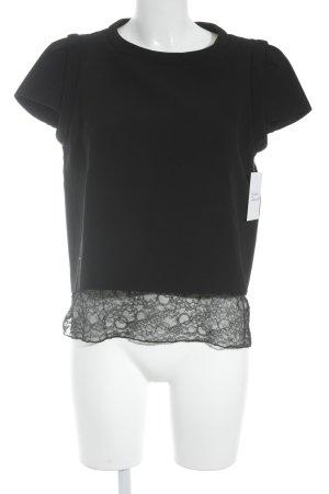 Maje T-Shirt schwarz Business-Look