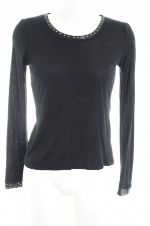 Maje T-Shirt schwarz Casual-Look