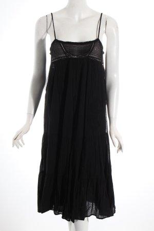 Maje Trägerkleid schwarz Romantik-Look