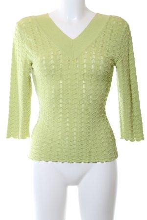 Maje V-Ausschnitt-Pullover grün Casual-Look