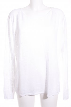 Maje V-Ausschnitt-Pullover weiß Casual-Look