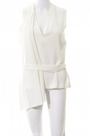 Maje Wraparound Blouse natural white business style