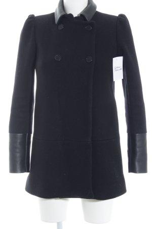 Maje Manteau en laine noir élégant