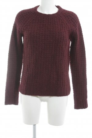 Maje Wollpullover bordeauxrot Webmuster Casual-Look