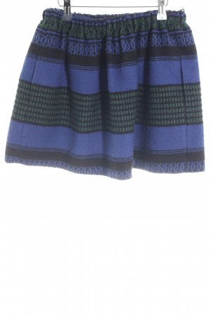 Maje Wool Skirt abstract pattern casual look