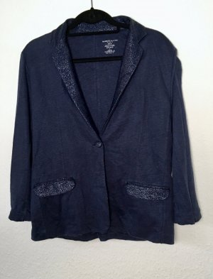 Majestic Filatures Sweat Blazer dark blue linen