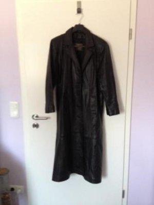 Major Design MDK Damen Ledermantel lang Größe 38 in schwarz