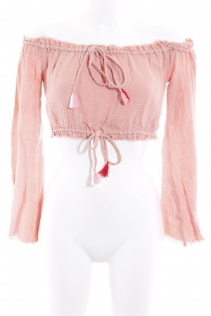 Majorelle Cropped Top apricot Beach-Look