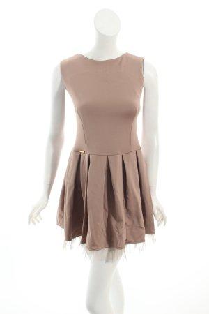 Makadamia A-Linien Kleid nude-hellbeige Romantik-Look