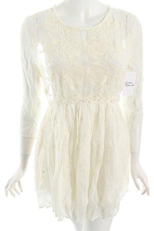 Makena Lei Blusenkleid wollweiß klassischer Stil