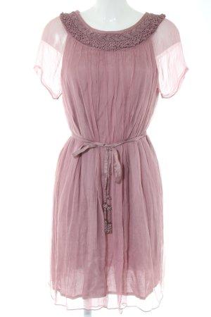 Makena Lei Vestido de manga corta rosa elegante