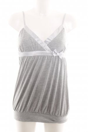 Makena Lei Spaghetti Strap Top light grey flecked casual look