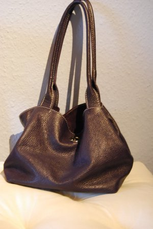Carry Bag dark violet-violet leather