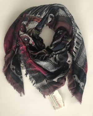 Mala Alisha Cashmere Schal violet grau bohoo - NP € 189 !! NEU