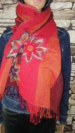 Mala Alisha Bufanda de lana multicolor Lana