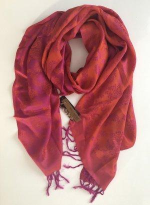 Mala Alisha Paisley Schal orange violet - NP € 129 !! NEU