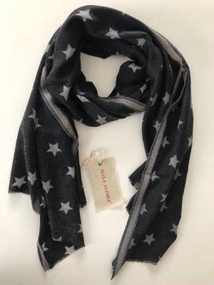 Mala Alisha Schal Black white Stars * NP €199 * NEU