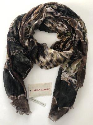 Mala Alisha Schal braun schwarz Vintage - NP €249