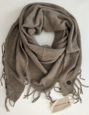 Mala Alisha Gebreide sjaal beige-lichtbruin